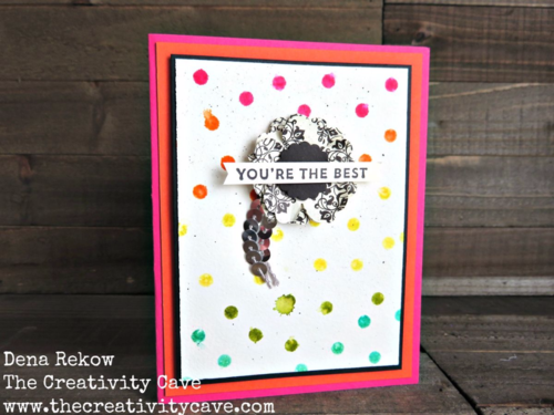 Stencils that Rock Video on my blog--easy way to create the gorgeous color on this awesome card using Stampin Up Supplies!  Check out my blog--I used Happy Patterns Decorative Masks, Watercolor paper, sponge daubers and Sunburst Sayings Stamp Set.
