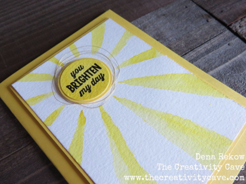 Stencils that Rock Technique Video on my blog using Stampin Up's Sunburst Sayings Bundle and watecolor paper and aquapainters. Quick and easy!