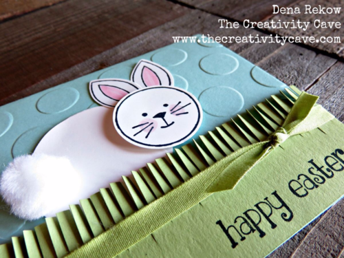 Check out this adorable easter card using Stampin Up's Fringe Flowers & Friends set.
