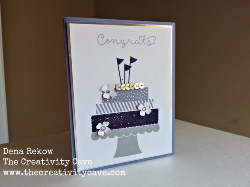 Simple and easy Wedding Card using Build A Birthday Stamp Set.