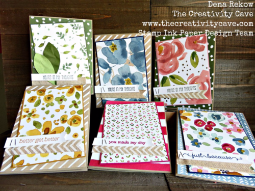 Check out the video on how I made all these quick and easy cards using Stampin Up's English Garden DSP!