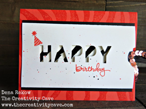 Great Video Tutorial on my blog for making cards with Washi Tape and Stampin Up's Little Letters Framelits