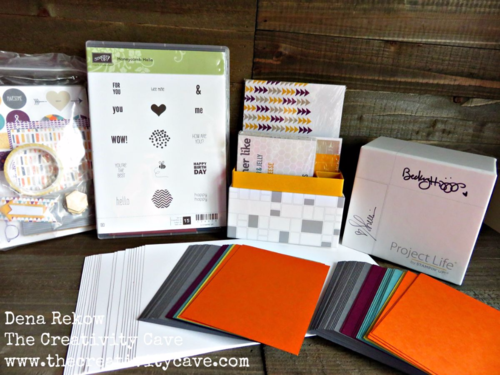 Watch the video on how you can create 40+ greeting cards in no time--super easy to create using these products and a few punches!