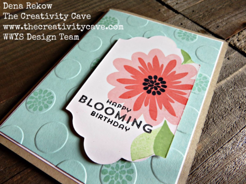 Great Video tutorial on my blog for making this awesome card along with some great tips using Stampin Up's Flower Patch Stamp Set and the Lots of Labels Framelits