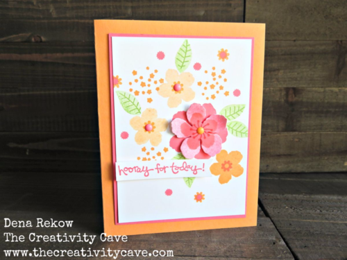 Great video tutorial for making this beautiful card and some great tips on creating cards using Stampin Up's Botanical Blooms Stamp Set and coordinating Framelits as well as the set, Greatest Greetings