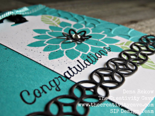 Check out the awesome video tutorial on how to make this gorgeous card using Stampin Up's Flourishing Phrases bundle! www.thecreativitycave.com #stampinup #thecreativitycave #flourishingphrasesbundle #videotutorial