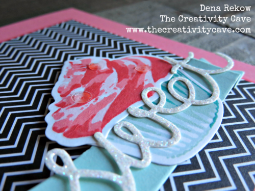 Dena Rekow, Stampin Up, The Creativity Cave, Rubber Stamping, Card Making, Paper Crafts, DIY, Greeting Cards, Sizzix, Big Shot, Die cuts, cupcake, frosting, stamp positioner, MISTI, How to video tutorial