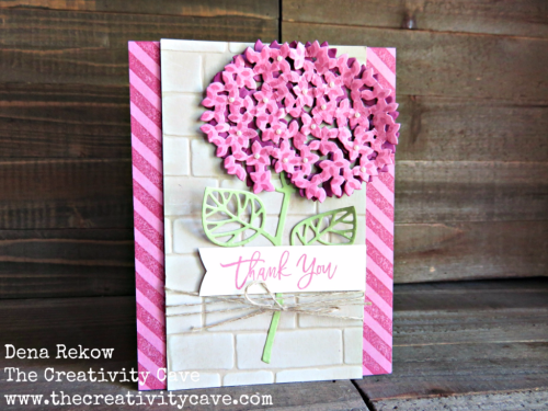 Video tutorial for this awesome combo on my blog, www.thecreativitycave.com using Stampin Up's Thoughtful Branches Bundle and the Popcorn Box Thinlits!  #stampinup #handmade #Thoughtfulbranches #thecreativitycave #hydrangia