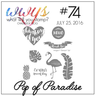 Check out my take on this awesome stamp set--it is SOOO awesome complete with a video tutorial on my blog: www.thecreativitycave.com #stampinup #thecreativitycave #popofparadise #wwyschallenge