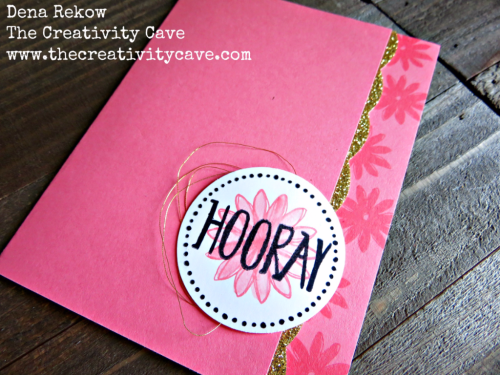 Video tutorial for creating this gorgeous scallop edge from the Best Badge Punch from Stampin Up along with the Perfectly Wrapped Stamp Set on my blog: www.thecreativitycave.com #stampinup #thecreativitycave #handmade #bestbadgepunch