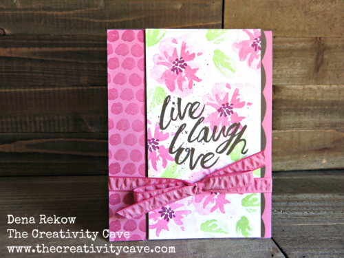 Video tutorial for creating this gorgeous scallop edge from the Best Badge Punch from Stampin Up along with the Penned and Painted Stamp Set on my blog: www.thecreativitycave.com #stampinup #thecreativitycave #handmade #bestbadgepunch