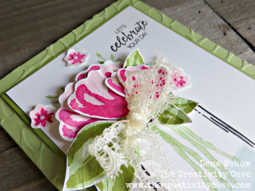 Amazing Video for this card on my blog, www.thecreativitycave.com using Stampin Up's Jar of Love stamp set and Bunch of Blossoms Stamp Set. #stampinup #thecreativitycave #handmade #jaroflove