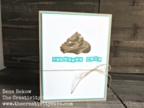 Check out the hilarious video tutorial for this funny card (that's a little inappropriate) on my blog, www.thecreativitycave.com #stampinup #sipchallenge #funny #handmade #thecreativitycave