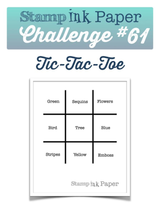 Check out my blog for this fun Tic Tac Toe Challenge using Stampin Up's Thoughtful Branches Stamp set at www.thecreativitycave.com #stampinup #thecreativitycave #thoughtfulbranches #handmade