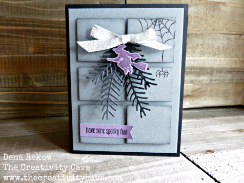 Great video tutorial for this card on my blog as well as supply lists and details on dimensions at www.thecreativitycave.com #handmade #stampinup #thecreativitycave #halloween #spookyfun