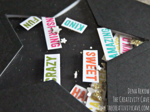 """Great Friday Quckie Video tutorial on how to make shaker cards with creative """"insides"""" like this one on my blog: www.thecreativitycave.com #stampinup #thecreativitycave #handmade #shakercards"""