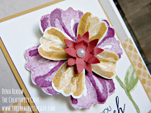 Check out the awesome video on how to make this gorgeous card on my blog at www.thecreativitycave.com #stampinup #thecreativitycave #bunchofblossoms #handmade