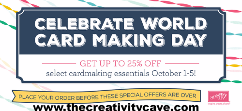 Shop some great specials on my blog for World Card Making Day Oct 1-5, 2016