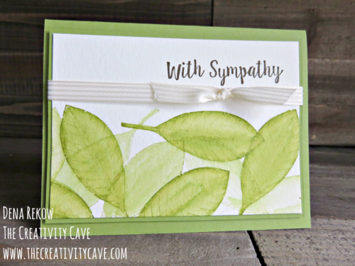"Check out this week's Friday Quickie Video on the ""faux watercolor"" technique using Stampin Up's Vintage Leaves and Better Together Stamp sets on my blog at www.thecreativitcave.com #stampinup #thecreativitycave #fauxwatercolor #watercolortechniques"