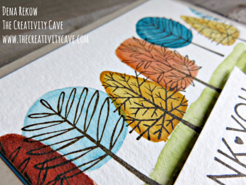 "Check out this week's Friday Quickie Video on the ""faux watercolor"" technique using Stampin Up's Totally Trees and One Big Meaning Stamp sets on my blog at www.thecreativitcave.com #stampinup #thecreativitycave #fauxwatercolor #watercolortechniques"