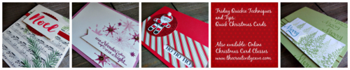 Friday Quickie Techniquess and Tips Video Series: Quick Christmas Cards www.thecreativitycave.com #stampinup
