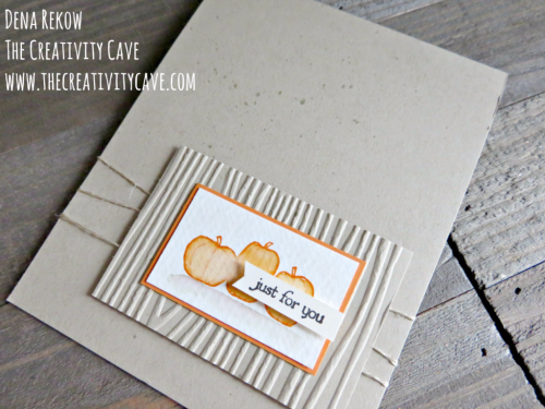 Check out this video tutorial for this gorgeously simple fall card on my blog at www.thecreativitycave.com #stampinup #thecreativitycave #spookyfun