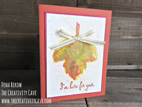 Check out the video tutorial on my blog for this gorgeous card using Stampin Up's Vintage Leaves and watercoloring at www.thecreativitycave.com #stampinup #thecreativitycave #watercolor #vintageleaves
