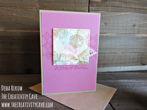 Check out the video to create these gorgeous projects using Stampin Up's new Stitched Shapes Framelits and VIntage Leaves stamp set on my blog at www.thecreativitycave.com #stampinup #thecreativitycave #vintageleaves #stitchedshapesframeltis