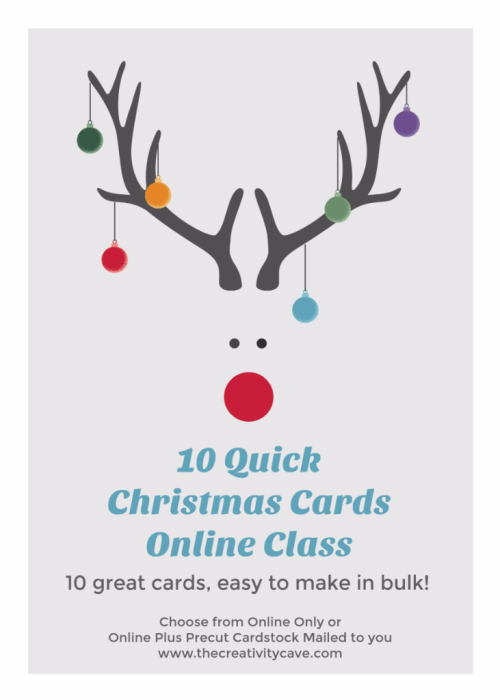 10 quick christmas cards online class Order yours today at www.thecreativitycave.com #stampinup #onlineclass #thecreativitycave
