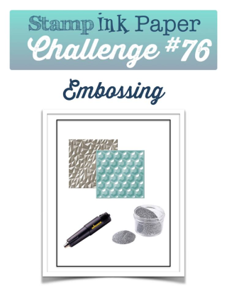 Check out my take on this fun challenge on my blog: www.thecreativitycave.com #stampinup #thecreativitycave #sipchallenge #embossing