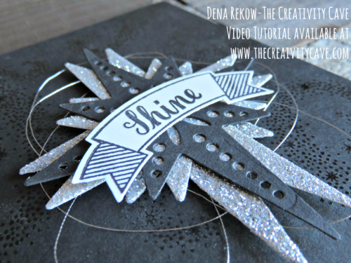 Check out the awesome Video Tutorial on how to make this NON-Christmas Card from a Christmas Stamp set using Stampin Up's Star of Light Stamp Set and Coordinating Framelits on my blog: www.thecreativitycave.com #stampinup #thecreativitycave #staroflight