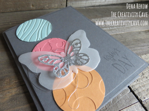 Check out my video tutorial on how easy it is to create this fun butterfly card using Stampin Up's Happy Happening Stamp set and Bold Butterflies Framelits on my blog: www.thecreativitycave.com #stampinup #thecreativitycave #butterflies