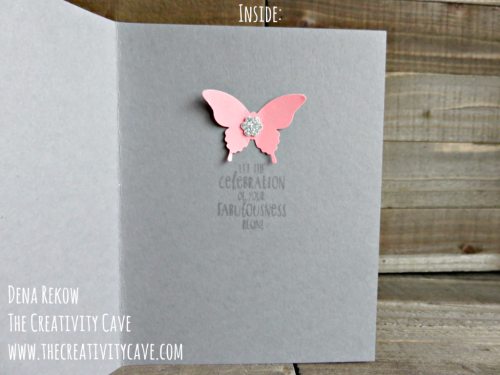 SIP 76 3Check out my video tutorial on how easy it is to create this fun butterfly card using Stampin Up's Happy Happening Stamp set and Bold Butterflies Framelits on my blog: www.thecreativitycave.com #stampinup #thecreativitycave #butterflies