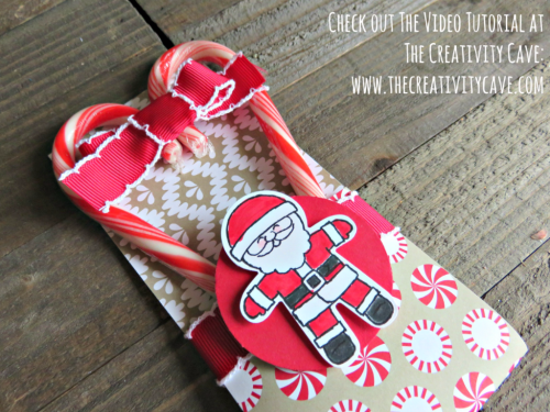 Check out the video tutorial for these adorable treat holders using Stampin Up's Cookie Cutter Christmas Stamp set and coordinating punch on my blog at www.thecreativitycave.com #stampinup #thecreativitycave #cookiecutterchristmas
