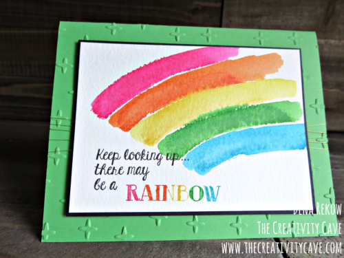 Check out the video tutorial for how I created this Bright Happy Card www.thecreativitycave.com #stampinup #thecreativitycave #overtherainbow