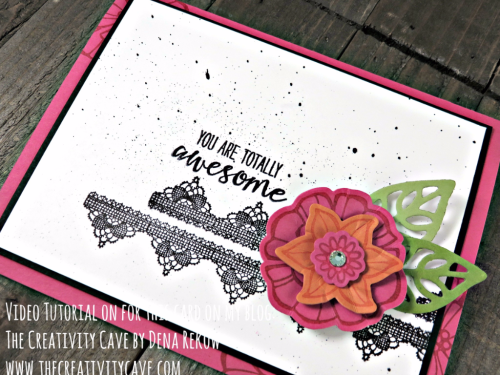 Great Video tutorial with a couple of alternative ways to make this card on my blog: www.thecreativitycave.com using Stampin Up's Falling Flowers and Grateful Bunch Stamp sets!  #stampinup #thecreativitycave #fallingflowers #gratefulbunch