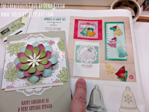 Friday Quickies CASE the Catalog Video Tutorial on my blog: www.thecreativitycave.com using Succulent Garden Stamp set and Framelits #stampinup #thecreativitycave #succulentgarden