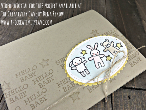 Check out the video tutorial for this adorably simple card using Stampin Up's Moon Baby Stamp set and a touch of watercolor.  #stampinup #thecreativitycave #moonbaby