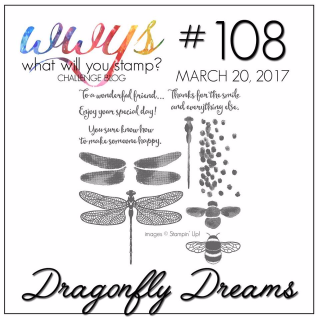 Check out my take (including video tutorial) for this set on my blog, www.thecreativitycave.com #stampinup #wwyschallenge #thecreativitycave #dragonflydreams