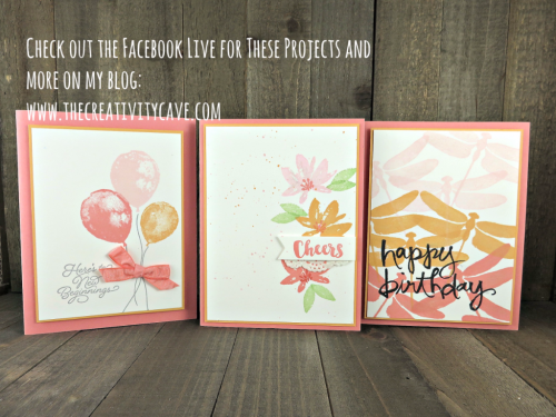 Check out the FB Live video on my blog of these an more projects at www.thecreativitycave.com #stampinup #thecreativitycave #fblive #dragonflydreams #balloonbuilders #avantgarden