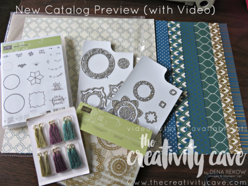 Check out the awesome projects from the Eastern Palace Premiere Bundle as well as a bunch of New Catalog Sneak Peeks and specials on my FB Live Video this week on my blog! www.thecreativitycave.com #easternpalace #stampinup #newcatalogsneakpeek