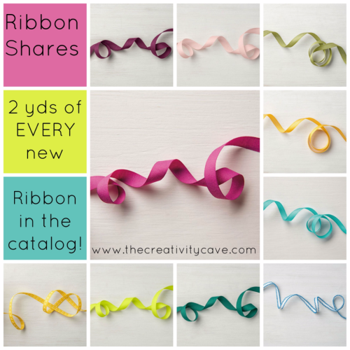 Ribbon Shares from The Creativity Cave:  Order Yours Today!!! www.thecreativitycave.com #stampinup #RibbonShare #newcatalog