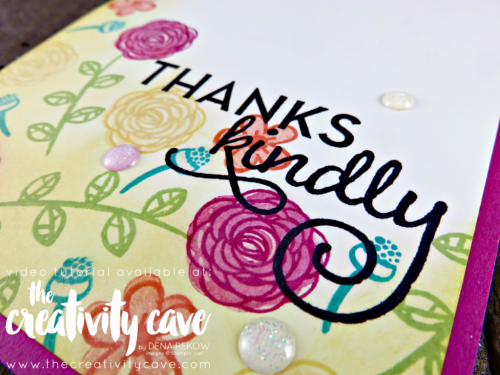 Check out the video for this gorgeous card and 3 more on my blog at www.thecreativitycave.com using Stampin Up's Happy Birthday Gorgeous Stamp Set! #stampinup #thecreativitycave #happybirthdaygorgeous