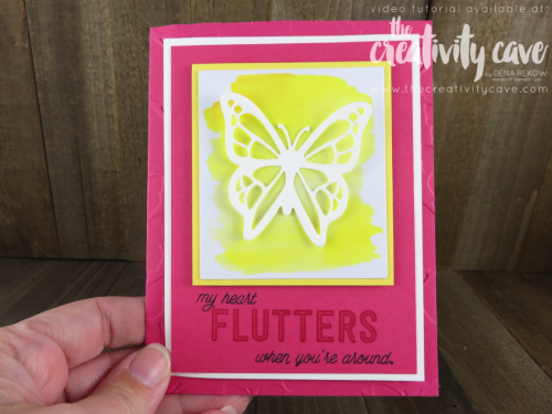 Check out my fun butterfly cards using Stampin Up's Paper Pumpkin Monthly Subscription box plus the You Move Me bundle on my blog (with video tutorial) at www.thecreativitycave.com #stampinup #thecreativitycave #youmoveme #paperpumpkin