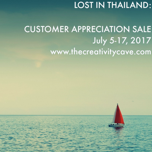 LOST IN THAILAND SPECIAL: I am headed to Thailand on Thursday! I am so grateful for your business! THANK YOU for helping me get to this once in a lifetime trip! While I am away, I have a fabulous special for you! First it is JULY BONUS days with Stampin Up!--for every $50 you spend, you'll get a $5 coupon for use in August! PLUS, Use Host code WRY26A47 and when you spend up to $50, I'll send you 5 beautiful Hand-made Cards! Spend $51-100 and I'll send you the cards plus a grab bag valued at at least $20!! Spend Over $101 and you'll get all of the above PLUS a FREE ONLINE ONLY class!! WOW! I'll contact you when I return for your online class choice! MUST use the host code to get these amazing deals!! Offer Valid July 5-17, 2017 Shop NOW at www.thecreativitycave.com