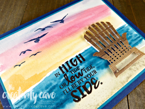 Check out my Facebook Live Video (on my blog) with this and several other projects using Stampin Up's Happy Birthday Gorgeous Bundle, You Move Me Bundle, and High Tide Stamp set with the Colorful Seasons Bundle at www.thecrativitycave.com #stampinup #thecreativitycave #facebooklive
