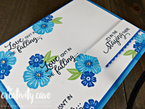 Check out the video tutorial for this quick and easy card (including lots of tips) using Stampin Up's Beautiful Bouquet Stamp set on my blog: www.thecreativitycave.com #stampinup #thecreativitycave #beautifulbouquet
