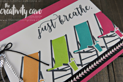 Check out the Video Tutorial for this simple, elegant card using Stampin Up's Colorful Season's Stamp Sets on my blog: www.thecreativitycave.com #stampinup #thecreativitycave #colorfulseasonsstampset