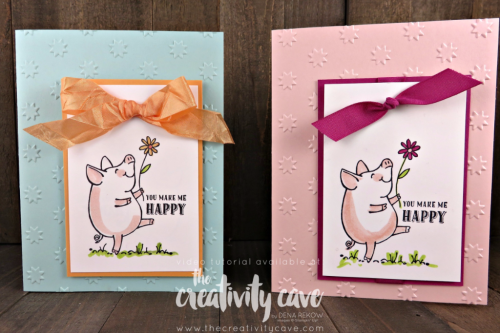 SIP 10Enjoy a cute video tutorial for this SUPER simple but adorable card using Stampin Up's This Little Piggy Stamp Set on my blog at www.thecreativitycave.com #stampinup #thecreativitycave #thislittlepiggy9 2