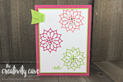 Check out the FB Live video on my blog for these adorable cards using Stampin Up's Eastern Beauty Stamp set and Eastern Medallions Framelits plus 4 more card on my blog: www.thecreativitycave.com #stampinup #thecreativitycave #easternmedallion